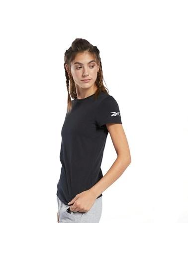 Reebok Logo Tee Kadın Siyah Koşu Tişörtü Fq6641 Siyah